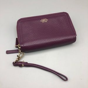 Vince Camuto eggplant purple wristlet wallet